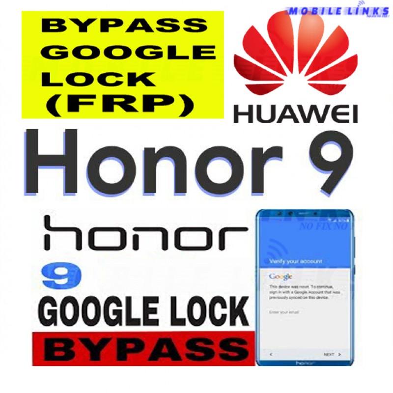 Huawei Honor 9 STF-L09 FRP Unlocking Service