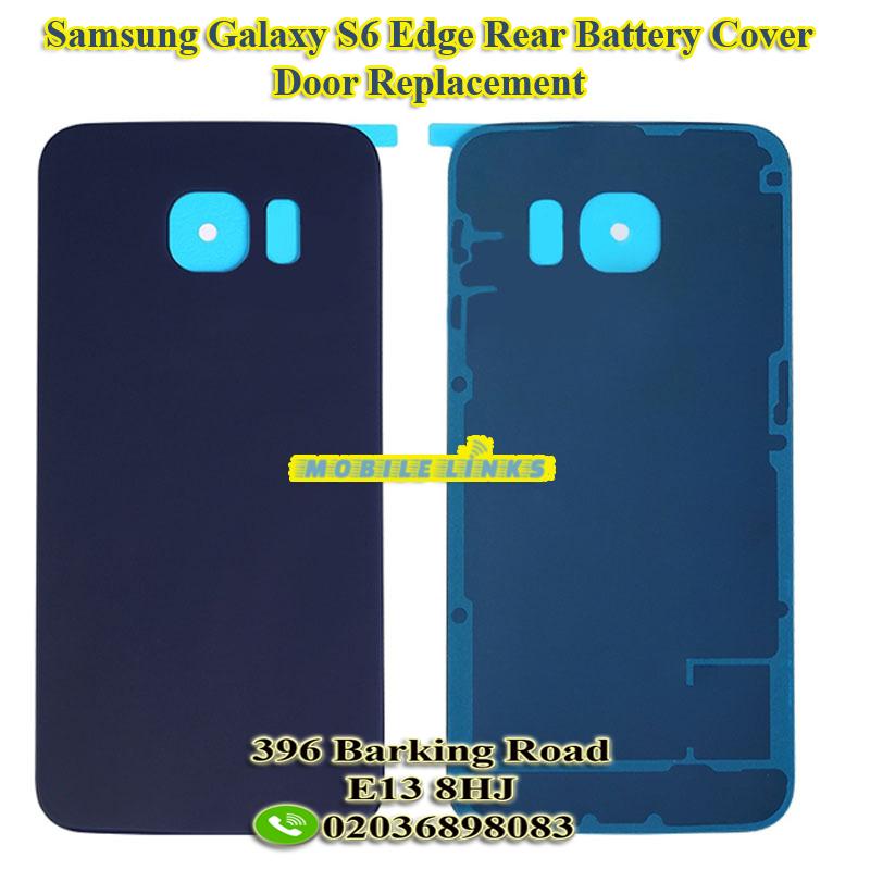 Samsung Galaxy S6 Edge G925f Back Glass Rear Battery Cover Door