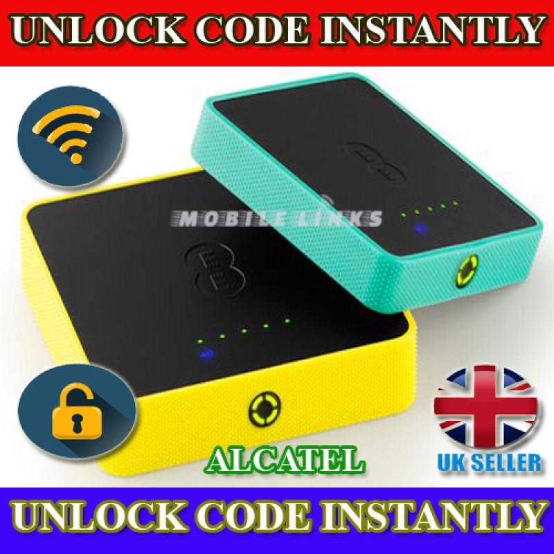 Unlock Alcatel WiFi Modem Osprey 2 mini 3 Y853 4GEE Y854 Y854VB Y853VB  EE40VB EE60VB Unlocking Code