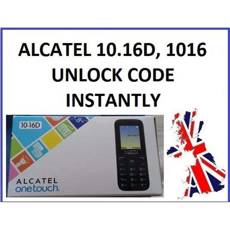 Unlock Alcatel Onetouch 1016, 10 16, 1016G, 10 16G, 1016D SIM Lock  Instantly in 4 Hours
