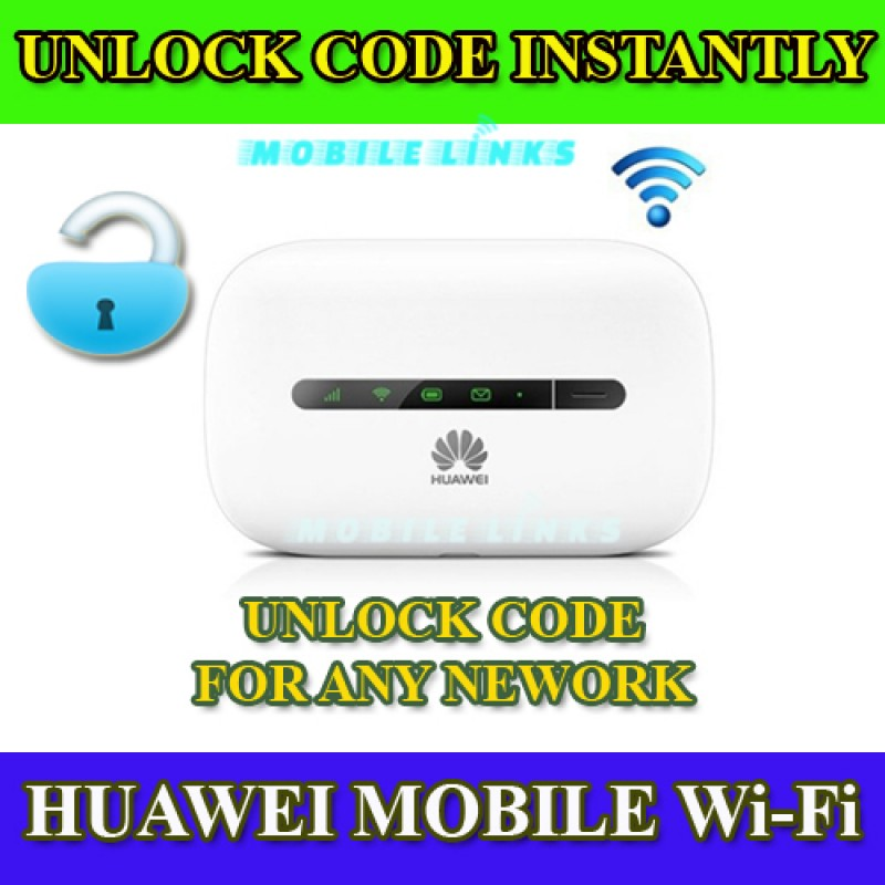 Unlocking Code for Huawei R207 E5330 E5330Bs-2 -6 Mobile Wi-Fi Instantly in  Minutes