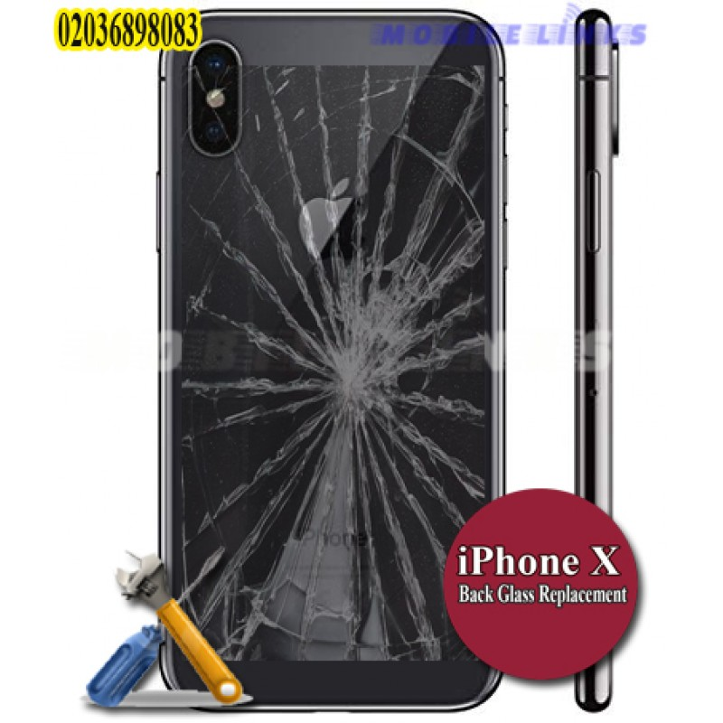 uk availability 3996e 6d1ce iPhone X Broken Back Glass Replacement Repair
