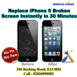 iPhone 5 Broken LCD/Display Replacement Repair Instantly in 30 Minutes