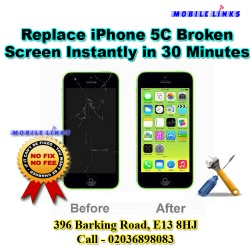 iPhone 5C Cracked Screen Instant Replacement Repair in 30 Minutes