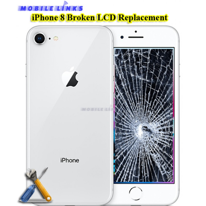 new styles 6d131 17f34 iPhone 8 Broken LCD/Display Replacement Repair
